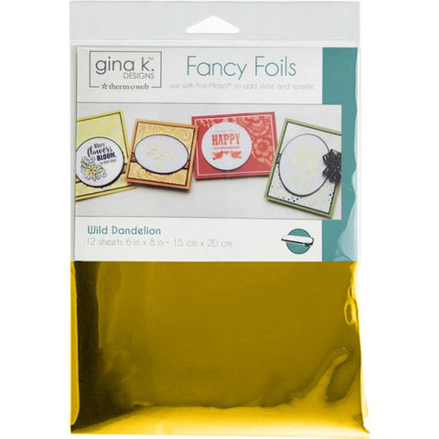 "Therm-O-Web - Gina K Fancy Foil - WILD DANDELION - 6""x8"" 12 Sheets"