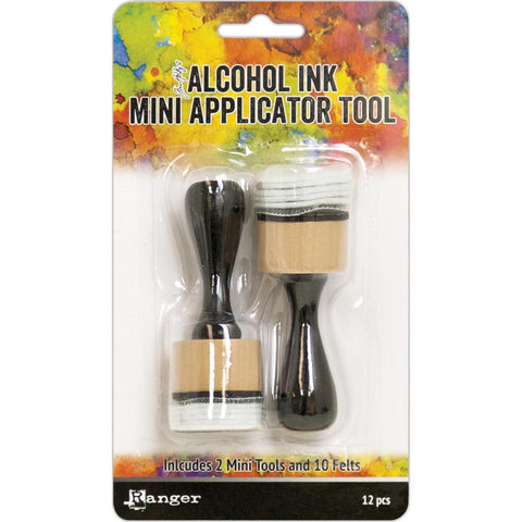 Tim Holtz- Alcohol Ink MINI Applicator Tool - 2 Tools 10 felts