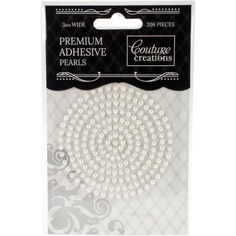 Couture Creations - Adhesive Pearls 3mm CHIFFON CREAM - 206/Pkg