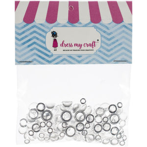 Dress My Crafts - Clear Water Droplet ASSORTED Embellishments 150/Pkg