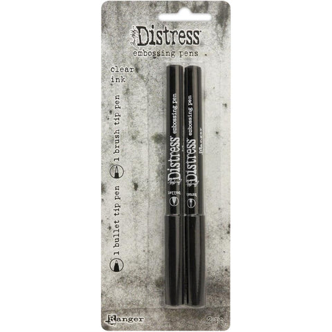 Tim Holtz - Distress EMBOSSING PENS 2pk - Brush and Bullet Tips