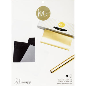 Heidi Swapp Minc SURFACE pad - 9 assorted 8.5x11 sheets