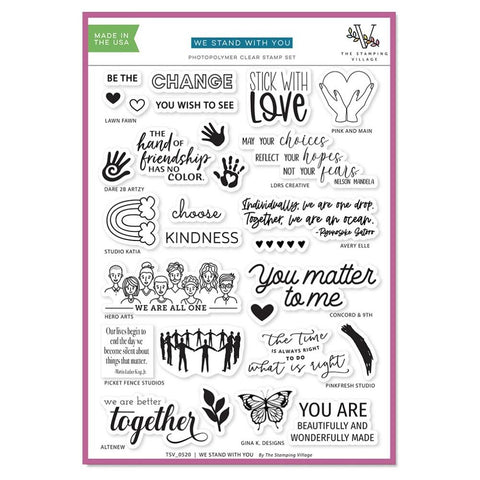 The Stamping Village - WE STAND WITH YOU - Clear Stamp Set