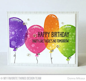 My Favorite Things - BIG BALLOONS - Stencil - Hallmark Scrapbook - 2