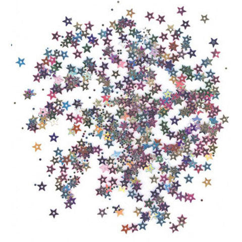 Darice - SEQUIN TINY STAR MULTI  - Sequins (400 pc) - Hallmark Scrapbook