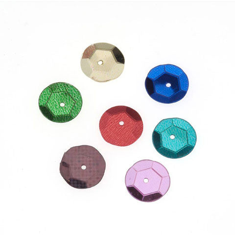 Darice - SEQUIN ROUND CUP ASSORTED  - Sequins (120 pc) - Hallmark Scrapbook