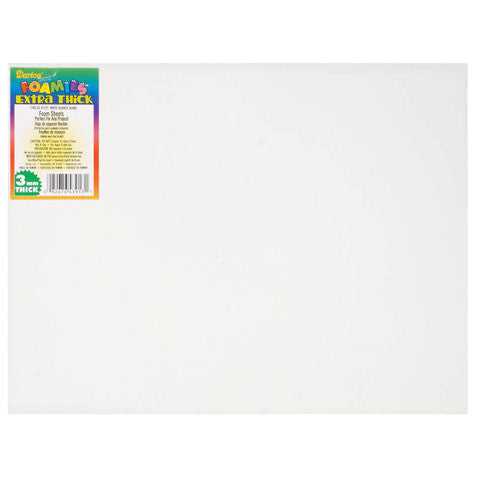 Foamies Foam Sheet - White - 3mm thick - 9 x 12 inches - Fun Foam - Hallmark Scrapbook