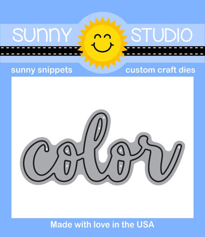 Sunny Studio - COLOR Word - Die - Hallmark Scrapbook - 1