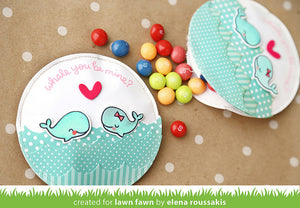 Lawn Fawn - WHALE YOU BE MINE - Lawn Cuts DIES - Hallmark Scrapbook - 3