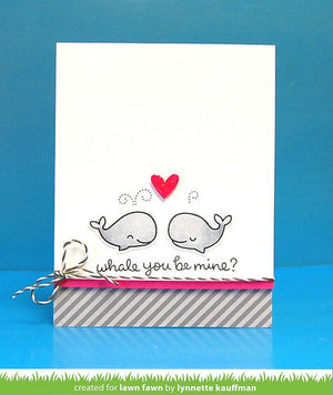 Lawn Fawn - WHALE YOU BE MINE - Lawn Cuts DIES - Hallmark Scrapbook - 4