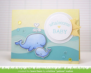 Lawn Fawn - WHALE YOU BE MINE - Lawn Cuts DIES - Hallmark Scrapbook - 6