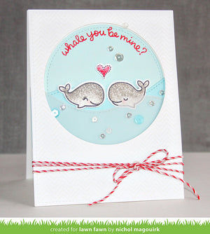 Lawn Fawn - WHALE YOU BE MINE - Lawn Cuts DIES - Hallmark Scrapbook - 2