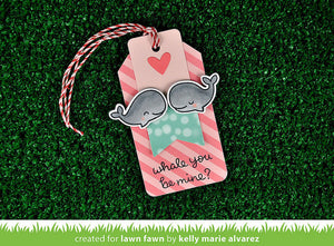 Lawn Fawn - WHALE YOU BE MINE - Lawn Cuts DIES - Hallmark Scrapbook - 5