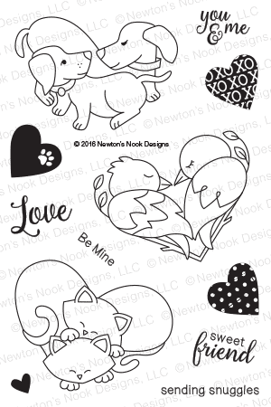 Newton's Nook Designs - DARLING DUOS Clear Stamps - Hallmark Scrapbook - 1