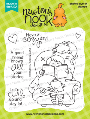 Newton's Nook Designs - A COZY DAY IN Clear Stamps - Hallmark Scrapbook - 2