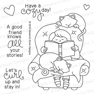 Newton's Nook Designs - A COZY DAY IN Clear Stamps - Hallmark Scrapbook - 1