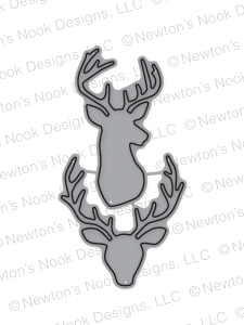 Newton's Nook Designs - SPLENDID STAGS Die Set - Hallmark Scrapbook - 1