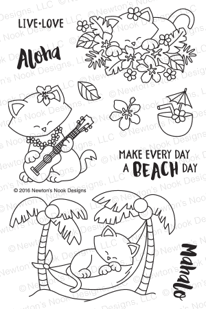 Newton's Nook Designs - ALOHA NEWTON Clear Stamps - Hallmark Scrapbook - 1