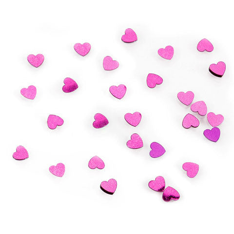 Darice - Sequin Confetti Pack HEARTS HOT PINK  - 14g/pack