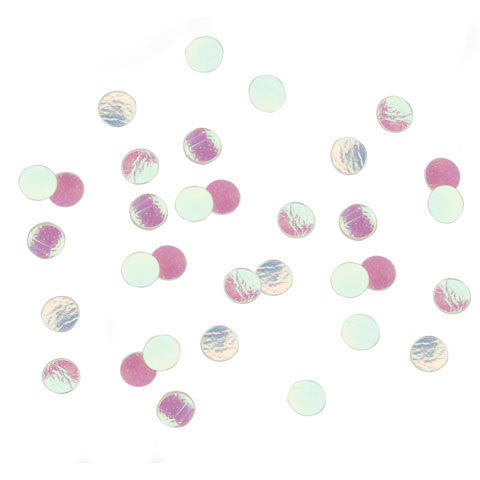 Darice - Sequin Confetti Pack DOTS IRIDESCENT  - (6mm) 14g/pack