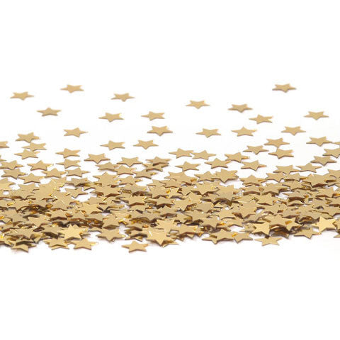 Darice - Sequin Confetti Pack - STAR GOLD  - (11mm) 14g/pack