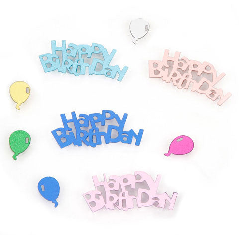 Darice - Sequin Confetti Pack HAPPY BIRTHDAY WITH BALLOONS  - 14g/pack - Hallmark Scrapbook