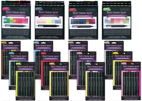 Next Generation SPECTRUM NOIR Alcohol Markers/Pens - 168 pc COMPLETE set - Hallmark Scrapbook - 1