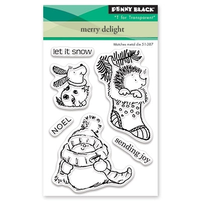 Penny Black - MERRY DELIGHT Mini - Clear Stamps Set