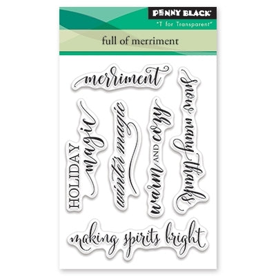 Penny Black - FULL OF MERRIMENT Mini - Clear Stamps Set