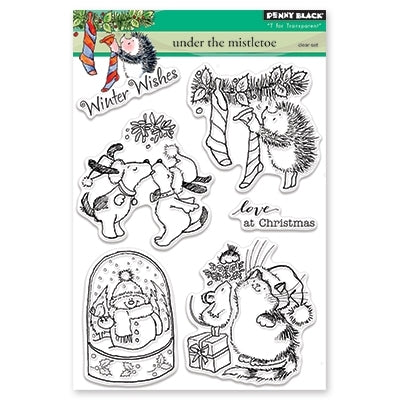 Penny Black - UNDER THE MISTLETOE - Clear Stamps Set