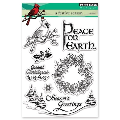 Penny Black - A FESTIVE SEASON - Clear Stamps Set
