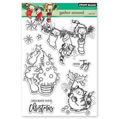 Penny Black - GATHER AROUND - Clear Stamps Set