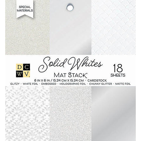 "Die Cuts With A View - SOLID WHITES - Single-Sided Cardstock - 6""X6"" 18/PKG"