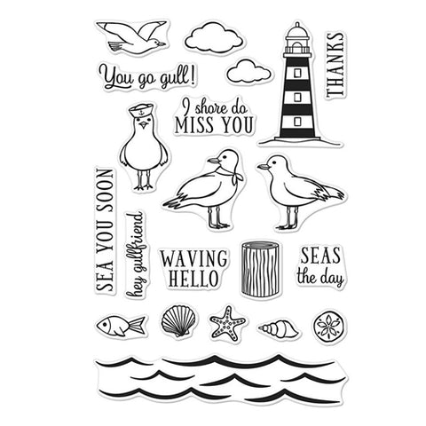 Hero Arts - Seas The Day Seagulls - Clear Stamps