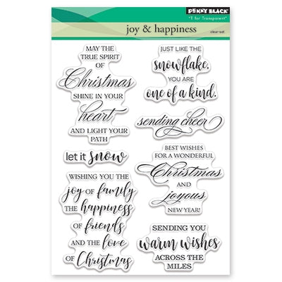 Penny Black - JOY AND HAPPINESS - Clear Stamps Set
