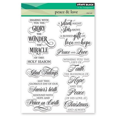 Penny Black - PEACE AND LOVE - Clear Stamps Set
