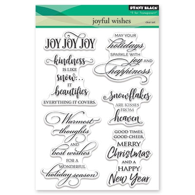 Penny Black - JOYFUL WISHES - Clear Stamp Set