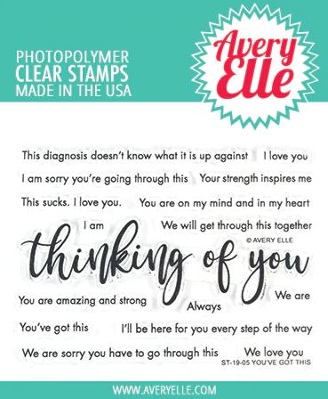 Avery Elle - YOU'VE GOT THIS - Clear Stamp Set