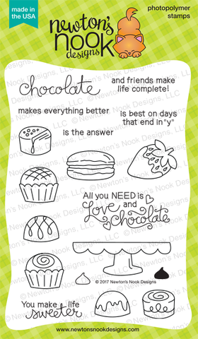 Newton's Nook Designs - LOVE AND CHOCOLATE Clear Stamps - Hallmark Scrapbook - 2