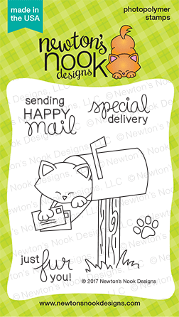 Newton's Nook Designs - NEWTON'S HAPPY MAIL Clear Stamps - Hallmark Scrapbook - 1