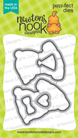 Newton's Nook Designs - PUGS HUGS Die Set - Hallmark Scrapbook - 1