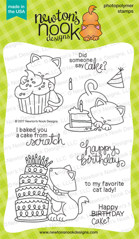Newton's Nook Designs - NEWTON LOVES CAKE Stamps Set