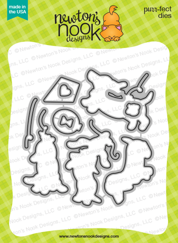 Newton's Nook Designs - DELIGHTFUL DOXIES Dies Set - Hallmark Scrapbook - 2
