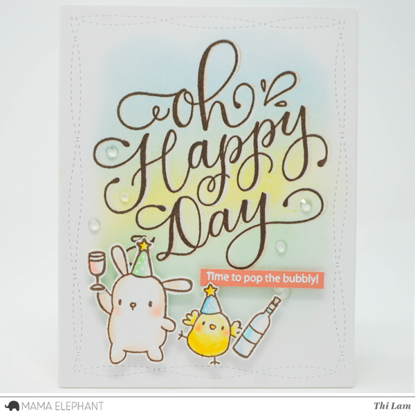 mama elephant oh happy day clear stamps set hallmark scrapbook