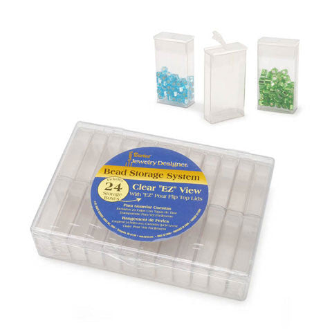 Darice Sequin and Bead Storage System 24 Boxes Hallmark Scrapbook