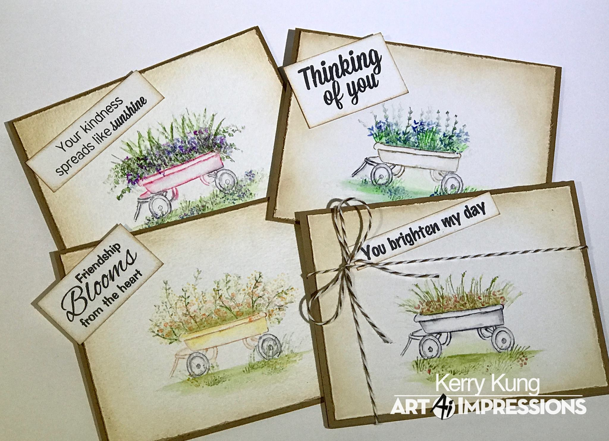 Art Impressions Watercolor Cling Rubber Stamp Set