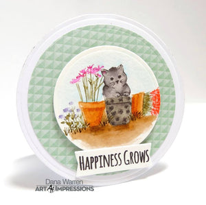 Art Impressions - Watercolor Cling Rubber Stamp Set - CATS