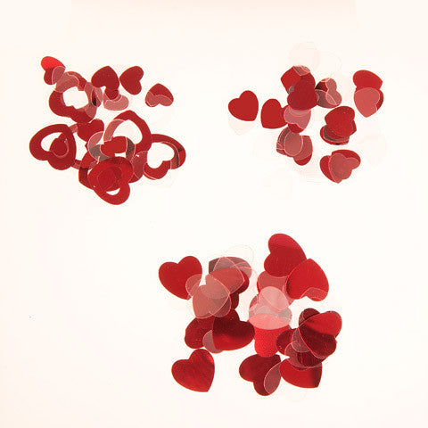 Darice - SEQUIN CONFETTI Pack - HEARTS Mix Red and Clear - 24 grams - Hallmark Scrapbook