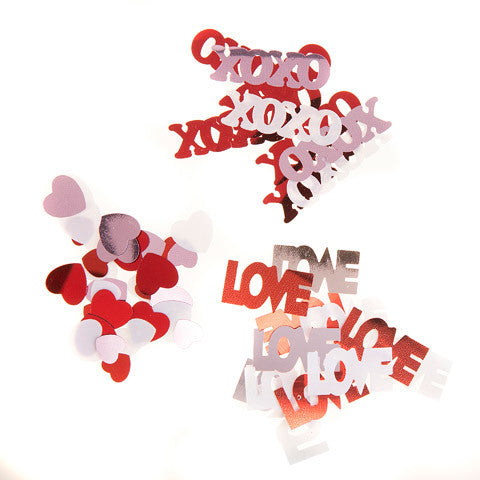 Darice - SEQUIN CONFETTI Pack  - LOVE, XO, HEART - 24 grams