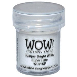 WOW! - Opaque BRIGHT WHITE Embossing Powder Super Fine